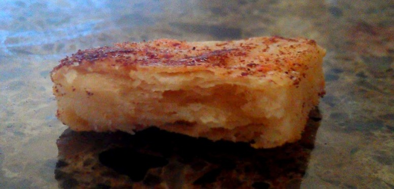 Profile of baked cheese cracker