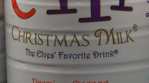 Christmas Milk?  I just Googled it, and found out it's ACTUALLY a THING!  Whoa!  #MindBlown